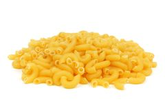 Macaroni pasta isolated on white Stock Image