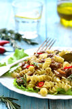 Macaroni (pasta) with meat stew. Royalty Free Stock Photography