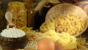 Macaroni pasta pastry  delicious carbohydrate concept. Video stock video footage