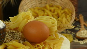 Macaroni Pasta Pastry  Delicious Carbohydrate Concept. Video stock footage