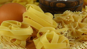 Macaroni Pasta Pastry  Delicious Carbohydrate Concept. Video stock video