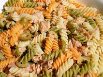 Macaroni pasta salad Royalty Free Stock Photography