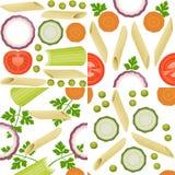 Macaroni patterns Stock Images