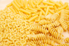 Macaroni Penne and Rotini Stock Photo