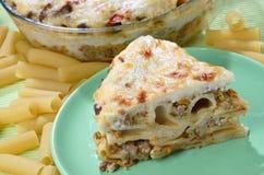 Macaroni pie Stock Photo