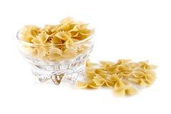 Macaroni - pilbågar i glasföremål Royaltyfria Bilder
