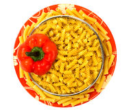 Macaroni with red pepper Royalty Free Stock Photography