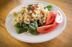 Macaroni Salad and Veggies Stock Photography