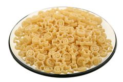 Macaroni on a saucer Royalty Free Stock Photo