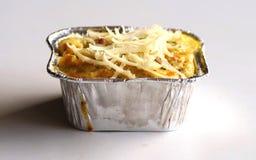 Macaroni schotel stock foto's