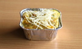 Macaroni schotel stock afbeelding