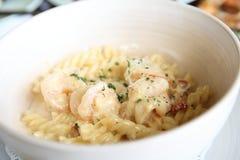 Macaroni shrimp Royalty Free Stock Image