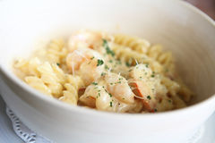 Macaroni shrimp Royalty Free Stock Photos