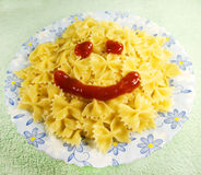 Macaroni with smile Stock Photography