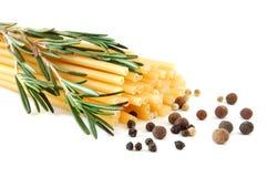 Macaroni and spice stock photo