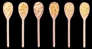Macaroni in spoon Royalty Free Stock Images