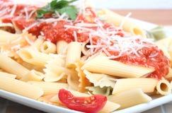 Macaroni with tomato sauce Royalty Free Stock Image