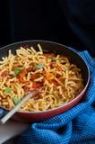Macaroni in tomato sauce Royalty Free Stock Photography
