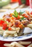 Macaroni with tuna dressing Royalty Free Stock Image