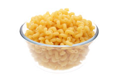 Macaroni in vase. On white background Royalty Free Stock Images