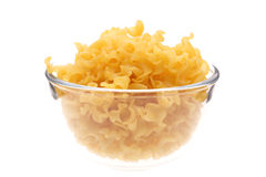 Macaroni in vase. On white background Royalty Free Stock Photo