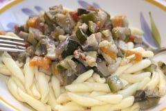 Macaroni with vegetable ragu Royalty Free Stock Images