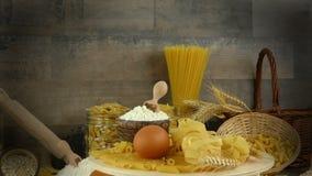 Macaronideegwaren stock video
