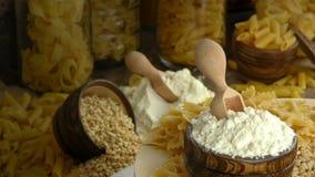 Macaronideegwaren stock footage