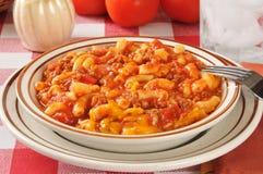 Macaronirundvlees Stock Foto