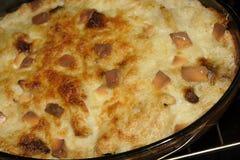 Macaronis avec du foie et le fromage photo libre de droits