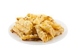 Macaronis avec du fromage photo stock