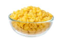 Macaronis crus dans le paraboloïde en verre Image stock