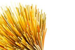 Macaronis crus de spaghetti de pâtes, photos stock