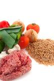 macaronis d'ingrédients image stock