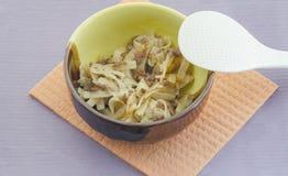 macaronis de style de la marine d'un plat Image stock