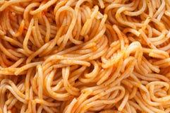Macaronis - haut proche de spaghetti images libres de droits