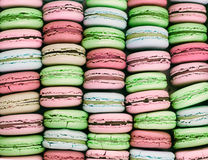 Macarons背景 免版税图库摄影