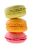 Macarons που απομονώνεται στο άσπρο υπόβαθρο Στοκ φωτογραφία με δικαίωμα ελεύθερης χρήσης