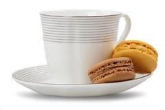 Macarons и кофейная чашка Стоковое фото RF