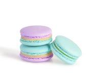 Macarons на белизне Стоковые Изображения