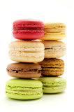 Macarons. Traditional macarons on a white background Royalty Free Stock Images