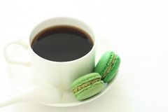 Macarons. This is matcha Gradient macarons ,delicious teatime Stock Photo