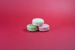 三macarons 免版税库存照片