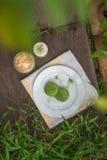 绿茶macarons 库存照片