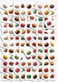 Macarons affisch Royaltyfria Bilder