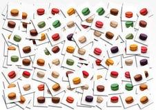 Macarons affisch Arkivfoton
