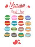 Macarons, amour doux Image libre de droits