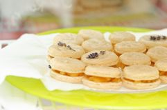Macarons with apples Stock Images
