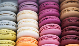 Macarons background Stock Images