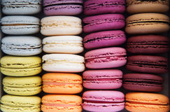 Macarons background Stock Photos
